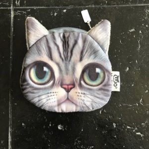 Handbags - Gray Cat Coin Purse